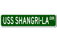 USS SHANGRI-LA CVS 38 Street Sign - Navy