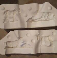 Ceramic mold, Barnyard Cow & Donkey