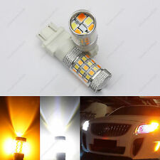 2* Switchback Dual Color White Amber 3157 LED Bulb Turn Signal tail DRL Light