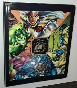 1995 MARVEL 95 FLAIR ANNUAL TRADING CARDS BINDER ONLY USED No Sheets No Cards