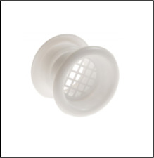 """WHITE Door Air Vent Tube 55mm / 2"""" Two Sided Ventilation Cover Sleeve"""