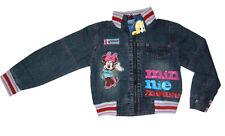 New Girls DISNEY MINNIE MOUSE long sleeve denim jacket Size L Age 8-9y Free Ship