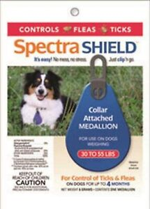 Durvet Spectra Shield Collar Attached Medallion for Medium Dogs 30 to 55 lbs.
