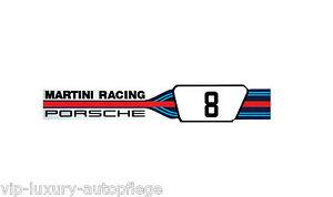 """Orig.Porsche Aufkleber""""Porsche Martini Racing"""" Neu rar selten Limitiert 160x28mm"""