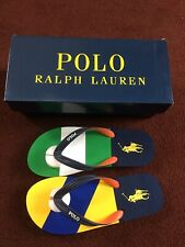 Polo Ralph Lauren Whtlbury III Flip-flop Thong Multi Colour UK7 RRP £29.99 #WW2