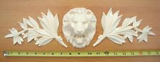 3x Shabby Chic Decorative Furniture Moulding Large Leaves Lion Head- Chalk Paint