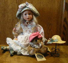 Boyds Yesterday's Child Porcelain Doll 4944 AMANDA w/ MILLIE...THE HAT SHOPPE LE