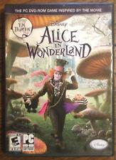 Alice in Wonderland PC DVD Video game based on Tim Burton Johnny Depp movie