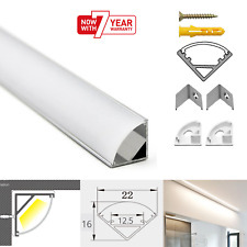 ATOM LED Strip Aluminium Corner Profile Milky Cover Cabinet LED Corner Profile