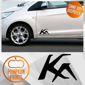 X2 Ford Ka side door logo vinyl Sticker Decal  Bumper window spoiler Street KA