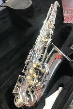 Intermediate Alto Saxophone-Key of Eb Case,MP Silver Plated plus Selmer Stand