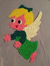 "Vintage Christmas Decoration Melted Plastic Popcorn 21"" Angel ~ Excellent"