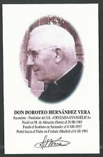 Estampa del Fundador Doroteo andachtsbild santino holy card santini