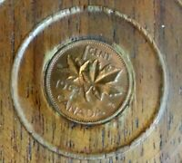 1964 Canadian Uncirculated 1 Cent Maple Leaf One Penny Coin - Canada 2 pcs