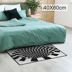 Round 3D printed Vortex Illusion Anti-slip Living room Rug Carpet Floor Door Mat
