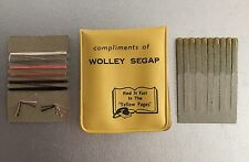 Vintage 1960 Yellow Pages /WOLLEY SEGAP Pocket Emergency Sewing Kit & Matches