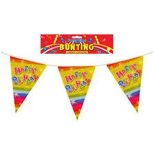 Feliz Cumpleaños 12ft Guirnalda - Plástico Fiesta Teen / Niños Banderines