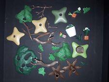 Playmobil lot de pièces détachées arbre fleur pot etc....