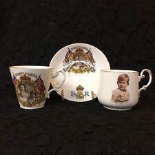 1953 QUEEN ELIZABETH II ~ CORONATION KEEPSAKES ~ MUG, CUP & SAUCER ~ PRINCES!