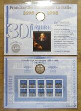 Numisblatt 4 / 1998 Frankesche Stiftungen DM 10 Silber Gedenkmünze Bestzustand