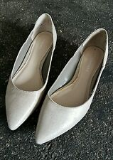 Annapelle Nude Leather Pointed Flats