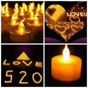 12/24PCS Flameless Votive Candles Battery Operated Tealight LED Tea Lights Decor