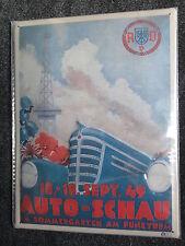 1949 OLDTIMER POSTER BLECHSCHILD AVD AUTOSCHAU AUTOMESSE FUNKTURM BERLIN NEU+OVP