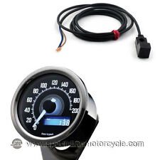 Kit sensore + Contachilometri Elettronico Daytona Stainless Luce Bianca 200Km/h