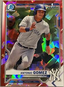 2021 Bowman Sapphire Antonio Gomez RED /15 NY Yankees