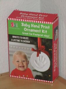 DEI Baby Hand Print Ornament Kit Memory Footprint Also Minutes To Create New