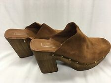 Topshop Suede Leather Clogs Mules SMOCK Women's Size 9.5 Made In Italy