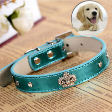 Bling Rhinestone Collar New Pu Leather Dog Collar Small Pet Necklace DogSupplies