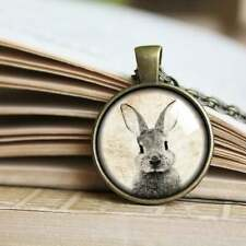 Bunny necklace, Cute Bunny Pendant, White rabbit Jewelry, Animal lover gift