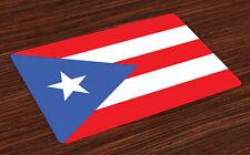 Puerto Rico Salvamantel Set de 4 Unidades Bandera con las rayas de la estrella