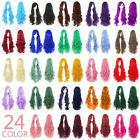 "80 cm / 30"" Long Curly Ombre Cosplay Anime Women Wig with Bangs + Free Wig Cap"