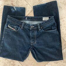 "Diesel LARKEE Blue Button Fly Denim Jeans Men's Size W 34  Inseam 27"" L 36"""