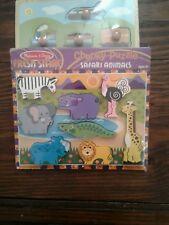 Melissa and Doug Safari Animals puzzle W/ Spark Image puzzle