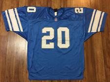MENS 56 - Vtg NFL DETROIT LIONS #20 BARRY SANDERS Wilson SEWN ON Jersey USA