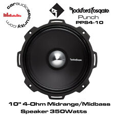 "Rockford Fosgate PPS4-10 - Punch Pro 10"" 4-Ohm Midrange/Midbass Speaker 350 Watt"
