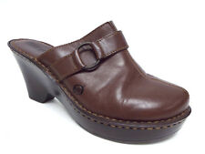 BORN Brown Size 9 Wedge Mules Shoes