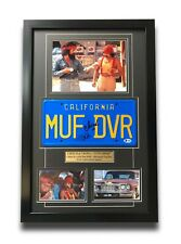 "Cheech & Chong Signed ""MUF DVR"" Movie Car License Plate Framed Collage BAS Auto"