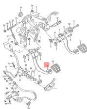 Genuine Volkswagen Clutch Pedal LHD NOS Corrado Jetta Passat syncro 357721315D