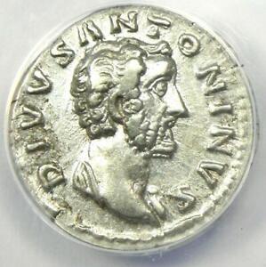 Antoninus Pius AR Denarius Silver Coin 161 AD - Certified ANACS XF40 (EF40)