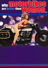 Motorbike & Women - Funny Humour Card - L ~ FREE POSTAGE UK