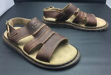 Dr Doc Martens Mens 8 M Brown Leather Fisherman Sandals 8870 Air Cushion Sole