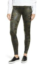 NWT Womens Spanx Faux Leather Green Camo Pant - Large