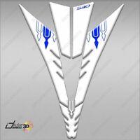 ADESIVI 3D 530 Y SCUDO FRONTALE T MAX 2012-2014 COMPATIBILE TMAX BLU BIANCO