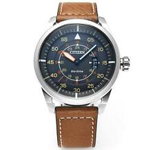 Citizen AW1360-12H Eco-Drive Aviator Power Reserve Men's Watch 45mm