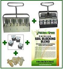 """""""Basic Grower"""" 5-Pc Soil Blocker """"Nesting"""" Set & 8 Qt. Premium Blocking Blend"""