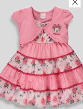 BNWT Baby Girls Disney Minnie Mouse Pink Dress and Cardigan 18-23 Months